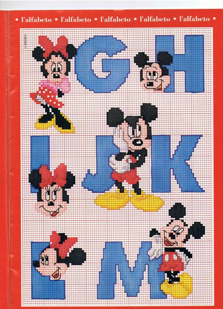 Molto Alfabeto punto croce con Disney Topolino e Minnie (2  KY92