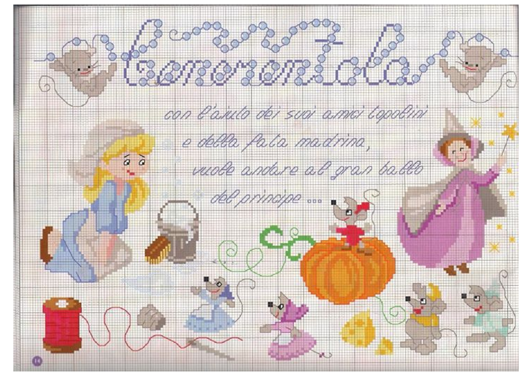 Popolare Fiaba Cenerentola schema punto croce gratis - magiedifilo.it punto  UB89