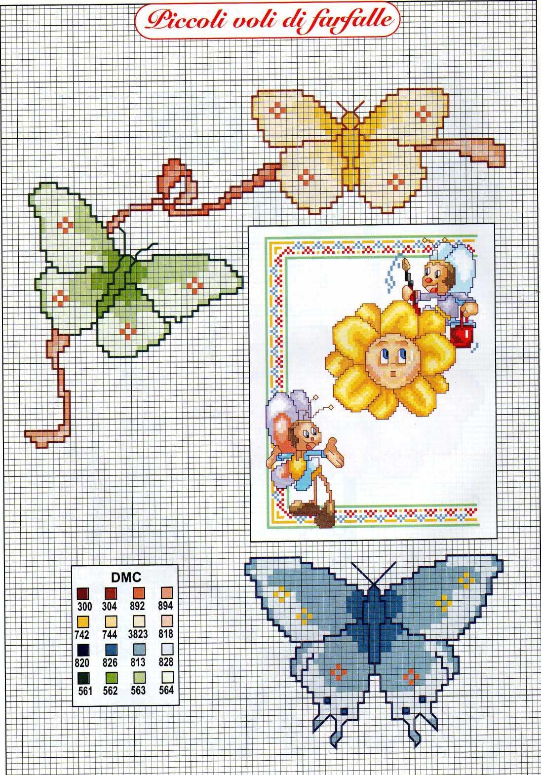 Célèbre bambini fargalle simpatiche fiore (4) - magiedifilo.it punto croce  MO13