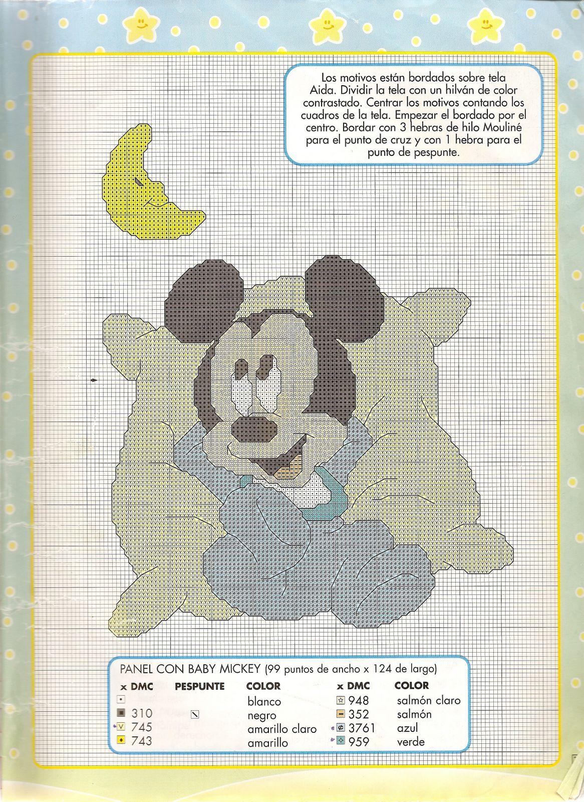 Punto Croce Baby Disney Per Copertine Lenzuolini 10