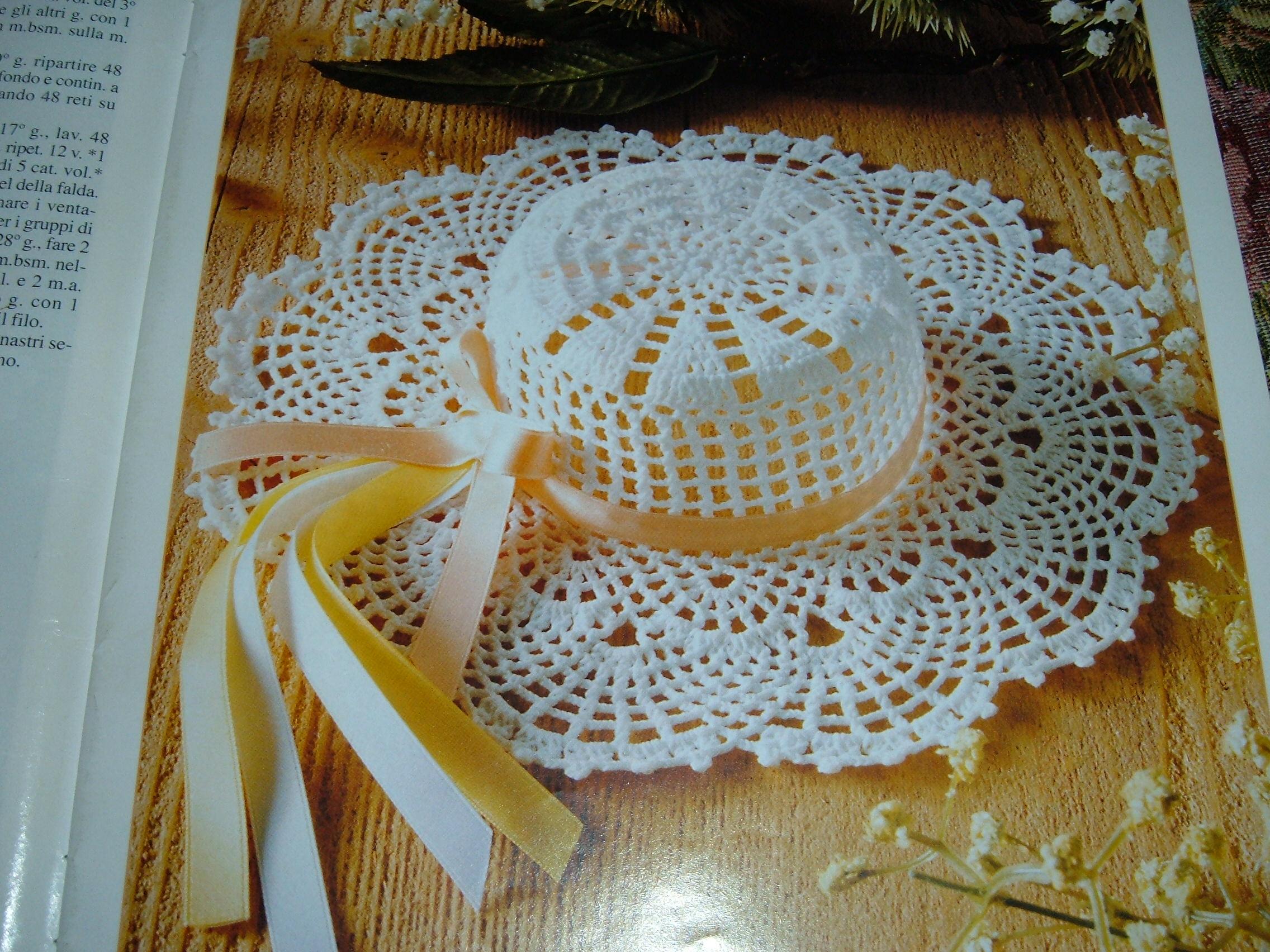 Fabuleux cappellino inamidato1 - magiedifilo.it punto croce uncinetto  TW14