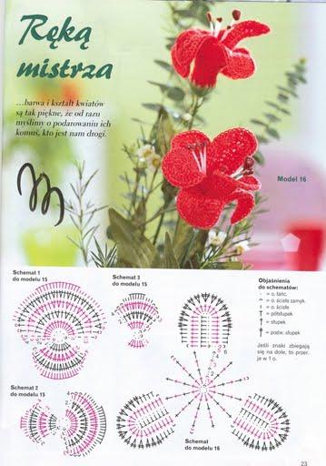 Fiori Uncinetto Orchidee Rosse Magiedifiloit Punto Croce