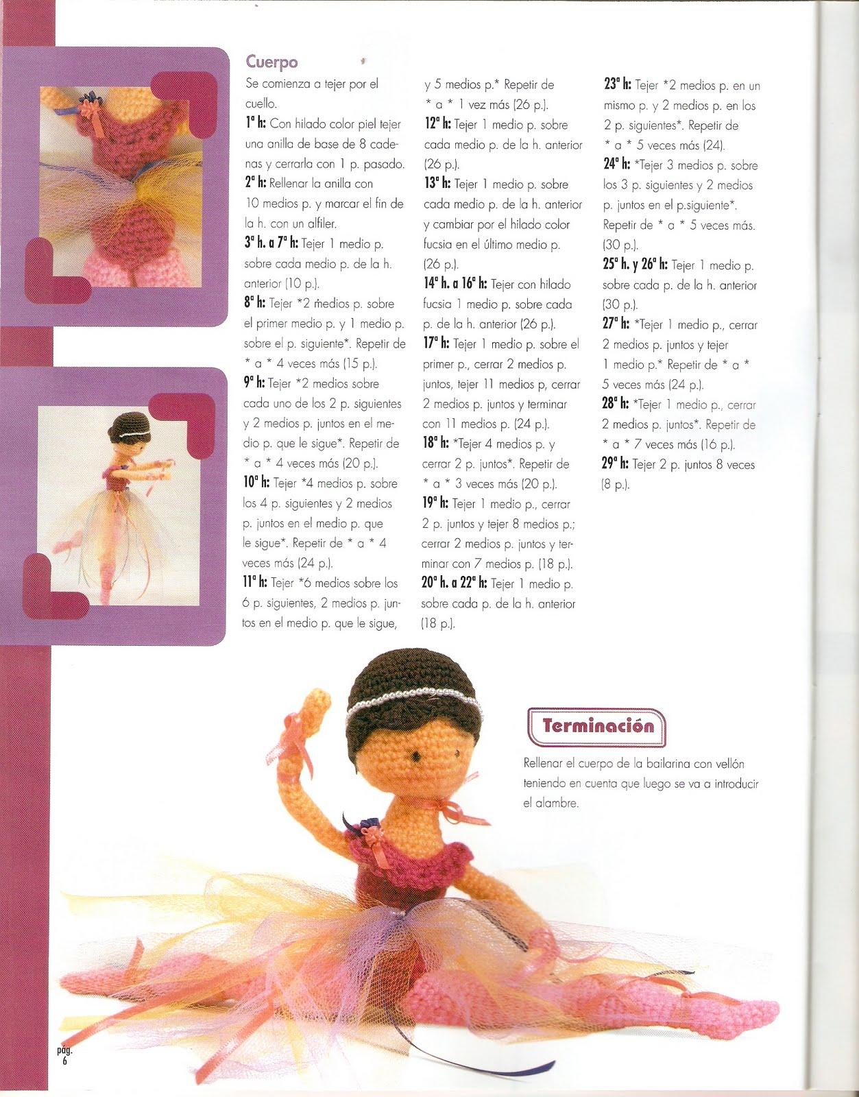 La ballerina amigurumi: il pattern su etsy | 1600x1253