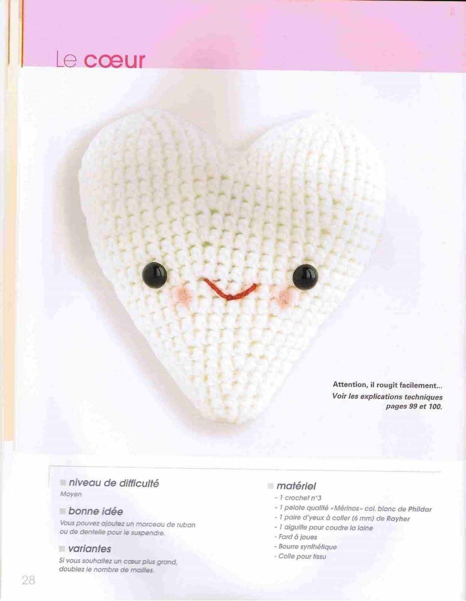 Cuore PDF schema gratis tutorial amigurumi crochet cotone uncinetto | 1200x932