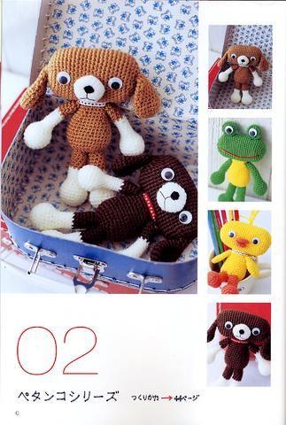 Crochet Amigurumi Garden Animal Toys Free Patterns | Häkeln ... | 480x323