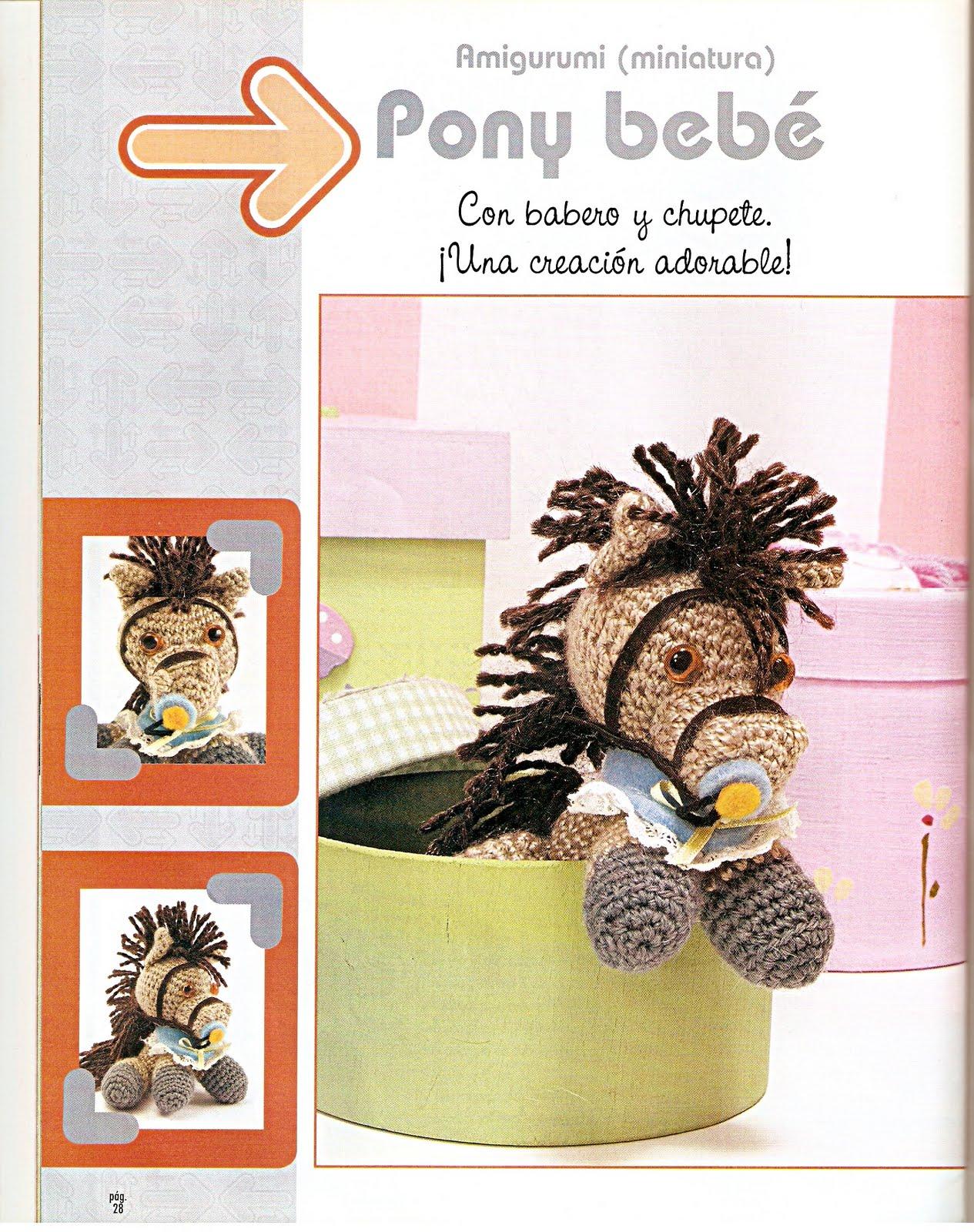 Crochet pattern Cavallo portachiavi italiano schema | Etsy | 1600x1265