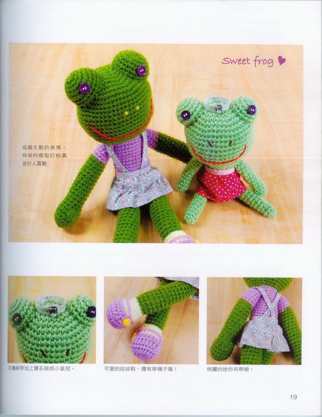 Sweet frog amigurumi pattern (3) - free cross stitch patterns ... | 1395x1078