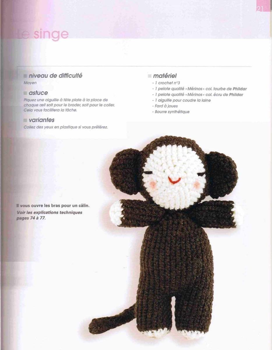 Monkey rock amigurumi pattern (1) - free cross stitch patterns ... | 1200x934