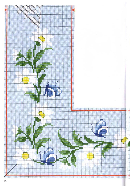 tovaglia cuscino margherite farfalle (2)   magiedifilo.it punto