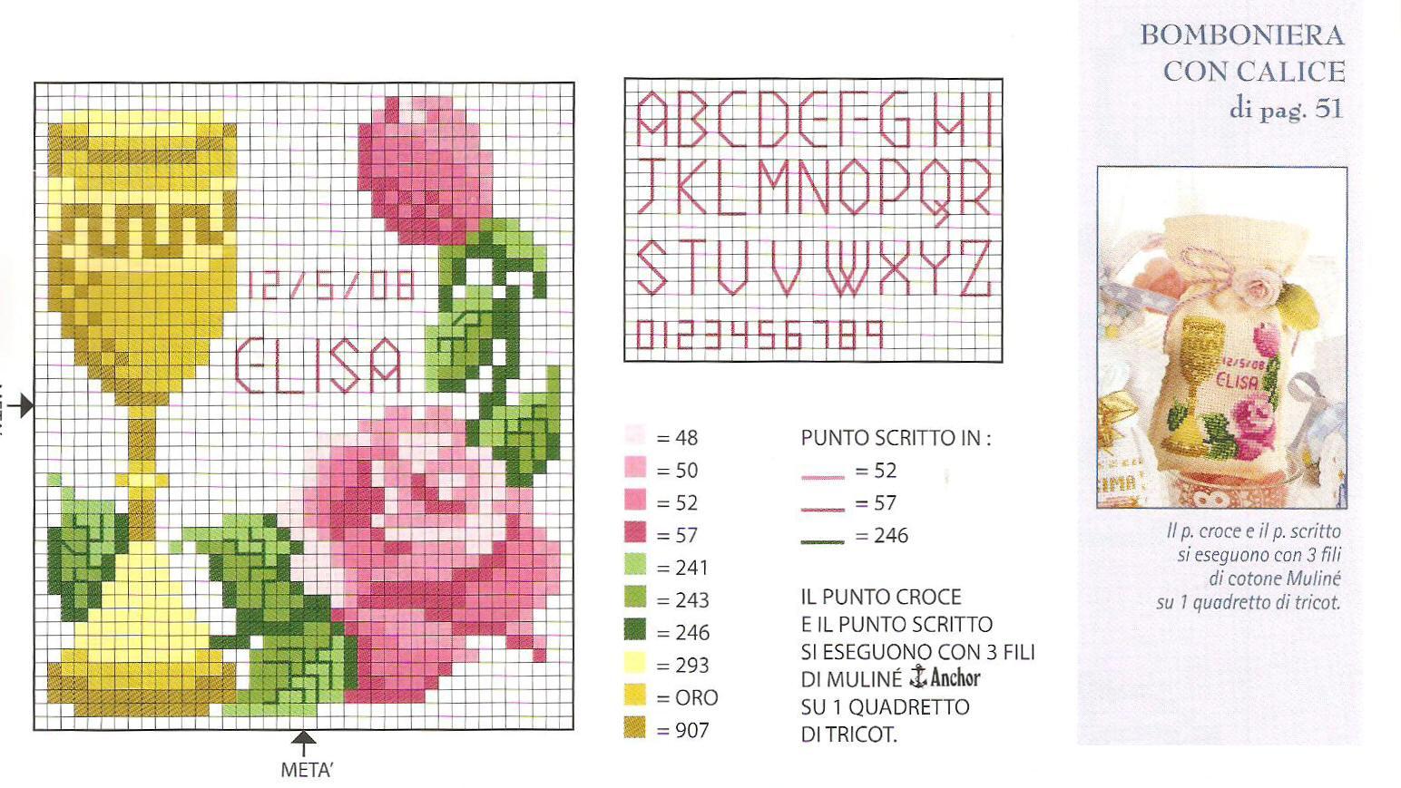 Assez comunione calice con rose - magiedifilo.it punto croce uncinetto  ZX44