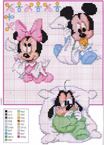 Amato disney baby topolino copertina - magiedifilo.it punto croce  VR53