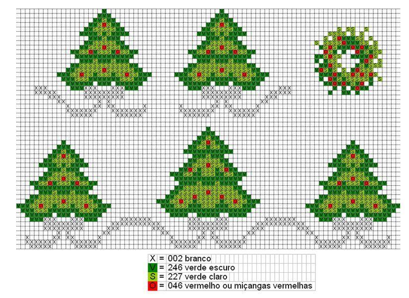 Immagini Di Natale A Punto Croce.Alberi Di Natale Semplici Magiedifilo It Punto Croce