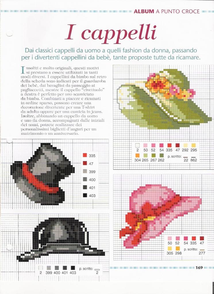 cappelli - magiedifilo.it punto croce uncinetto schemi gratis hobby ... c447e79b0396