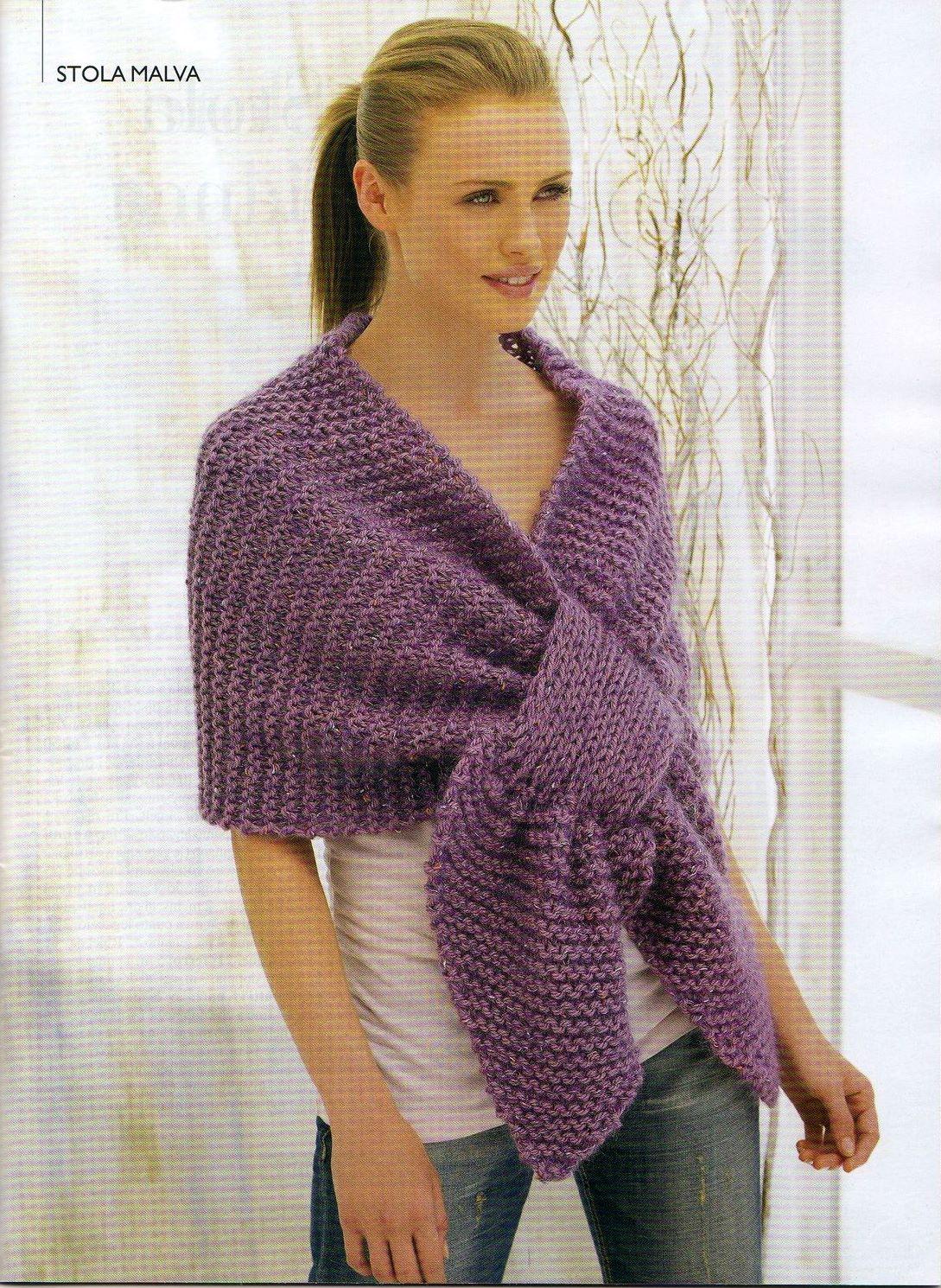 sciarpa maglia incrociata (1) - magiedifilo.it punto croce uncinetto ... c5091c717de4