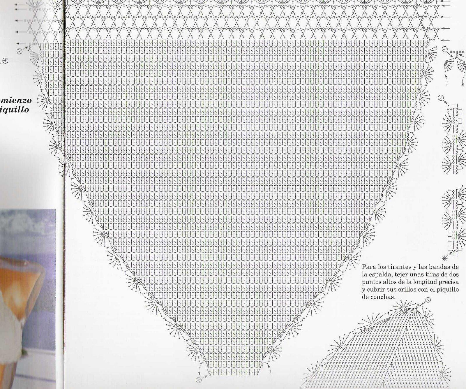 Costume Uncinetto Bianco Due Pezzi 2 Magiedifiloit Punto Croce