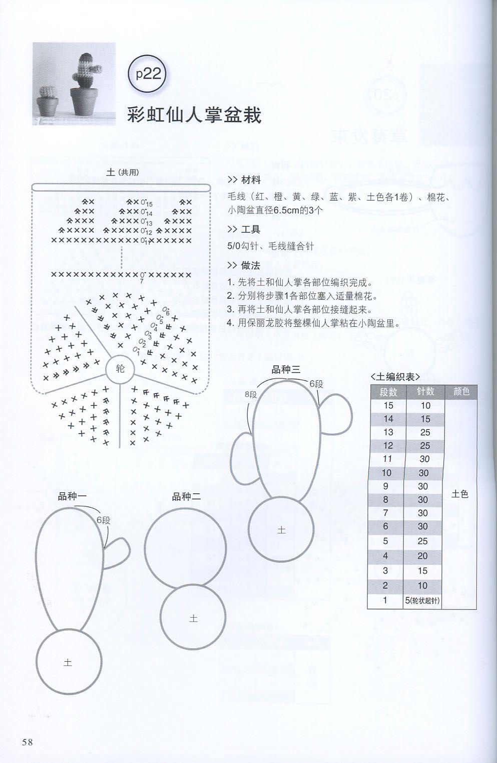 AMIGURUMI CROCHET CACTUS Mond Pdf Muster Uncinetto fiore | Etsy | 1522x993