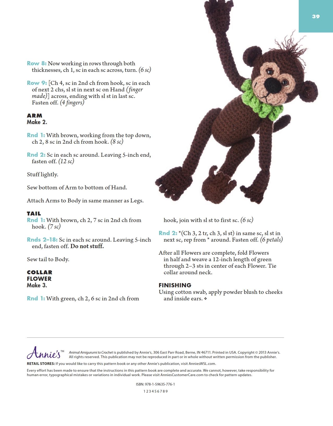 Free Pattern Amigurumi Monkey | Crochet monkey pattern, Crochet ... | 1631x1275