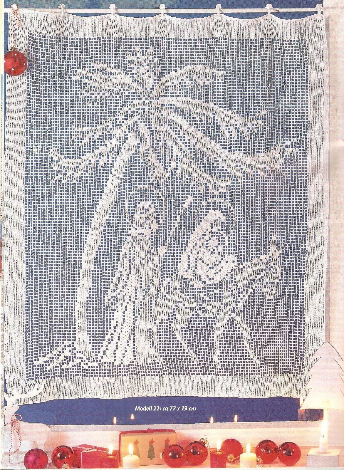 Tenda Filet Natività 1 Magiedifiloit Punto Croce Uncinetto