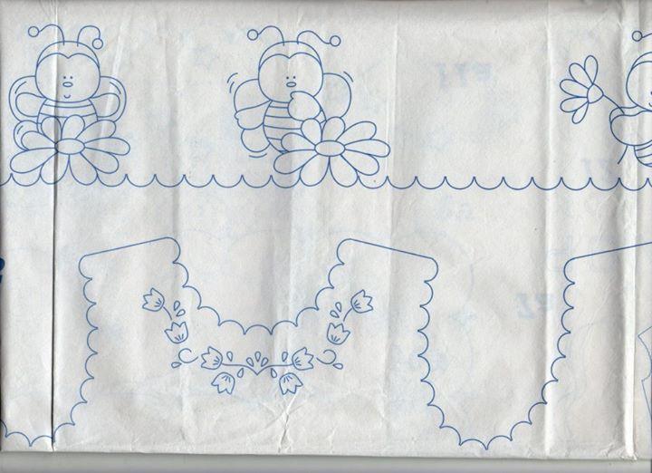 Disegno Da Ricamare Camicina Della Fortuna E Lenzuolino Coccinelle