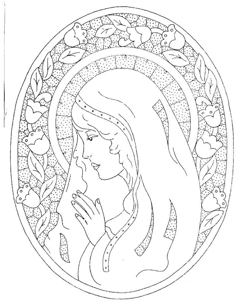 Disegno Da Ricamare Madonna Intaglio Magiedifiloit Punto Croce