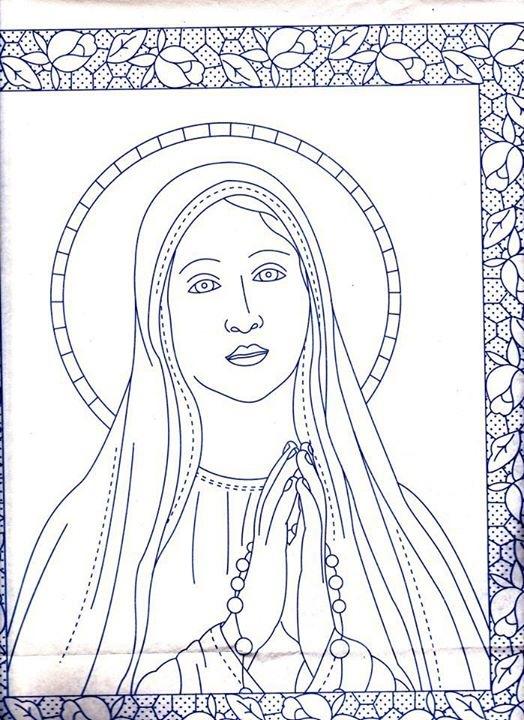 Disegno Da Ricamare Madonna Magiedifiloit Punto Croce Uncinetto
