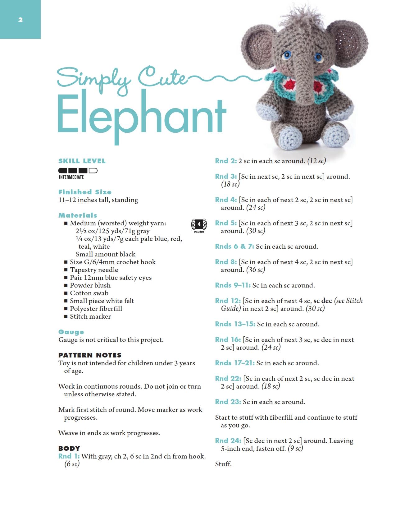 Uncinetto Amigurumi Elefante : Elefante acrobata amigurumi (1) - magiedifilo.it punto ...