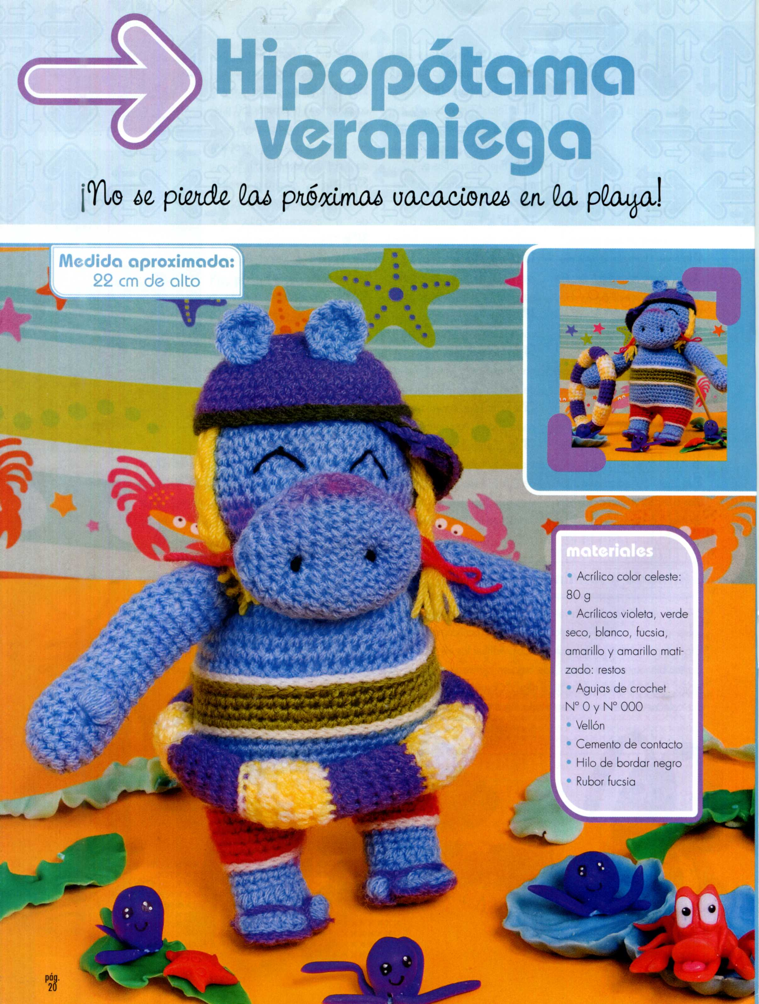 Amigurumi Cute Hippopotamus Free Crochet Pattern | Crochet toys ... | 3189x2413
