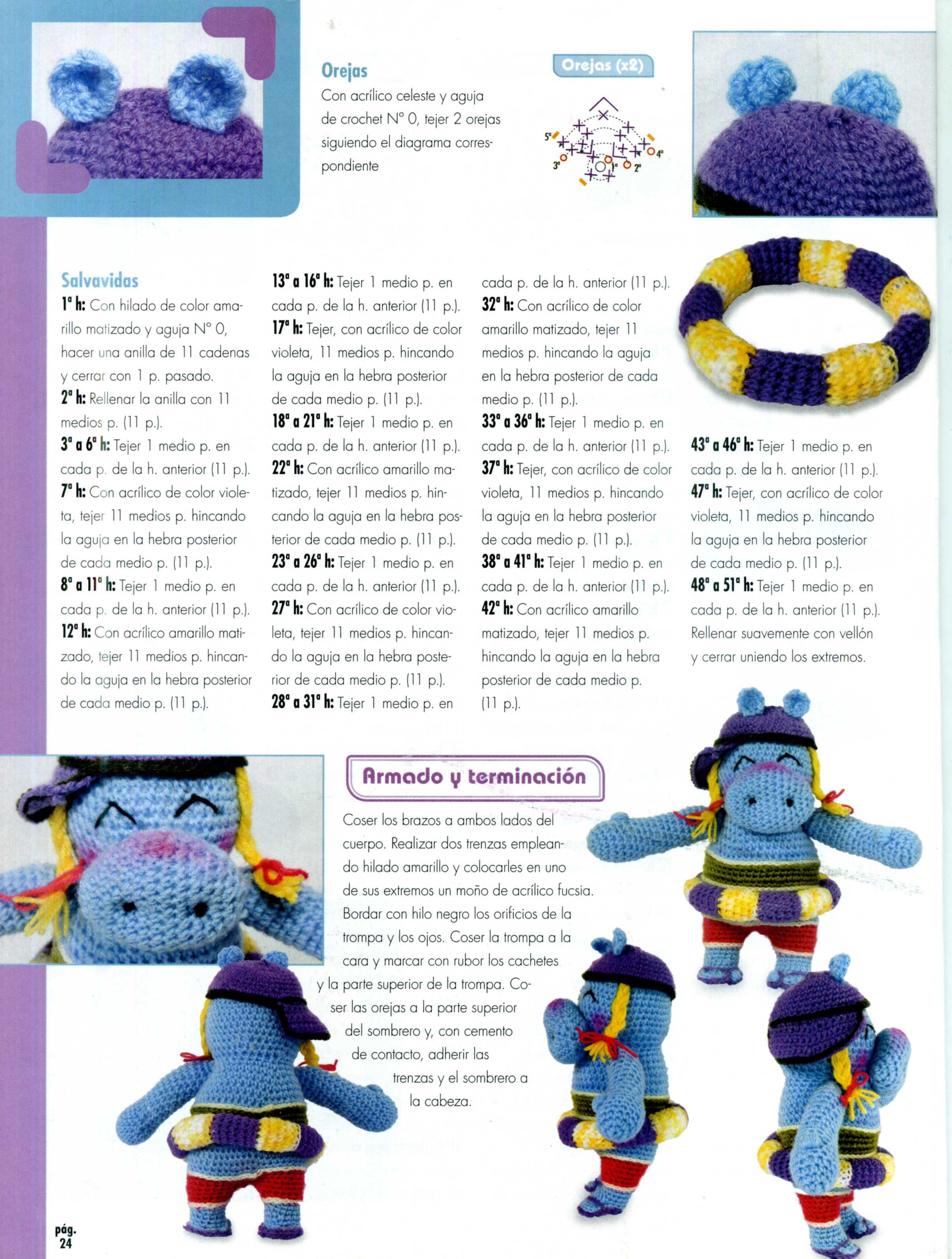 Ippopotamo Amigurumi Crochet : Ippopotamo a mare amigurumi 5 - magiedifilo.it punto croce ...