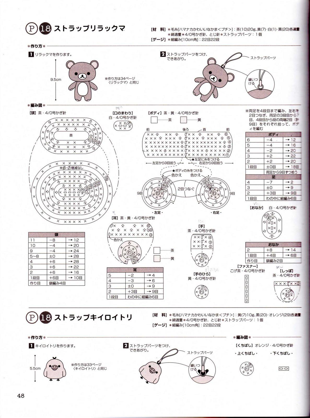 Amigurumi Uncinetto Schemi : Orsetto con fiore portachiavi schema amigurumi