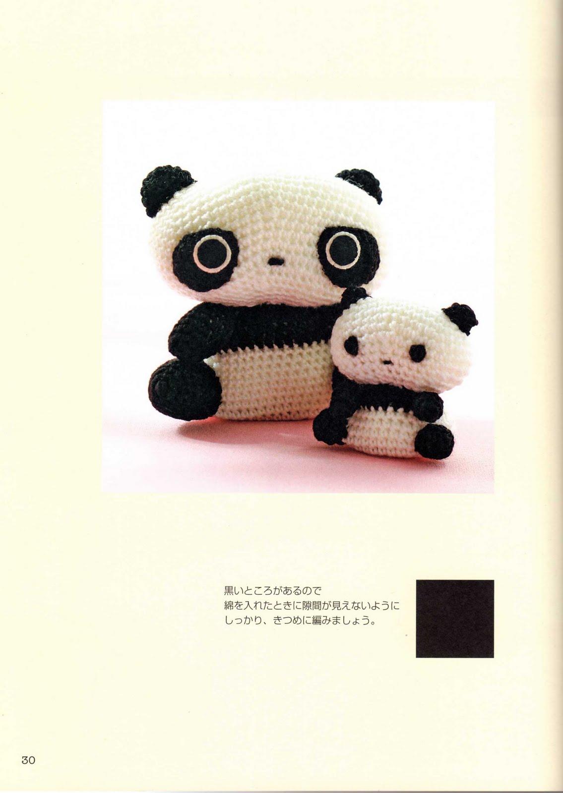 Dolce panda schema amigurumi (1) - magiedifilo.it punto ...