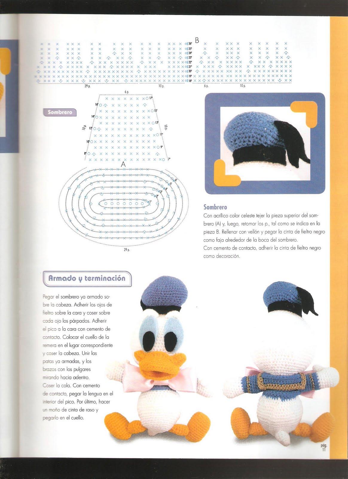 Paperino disney donald duck amigurumi 5 - magiedifilo.it ...