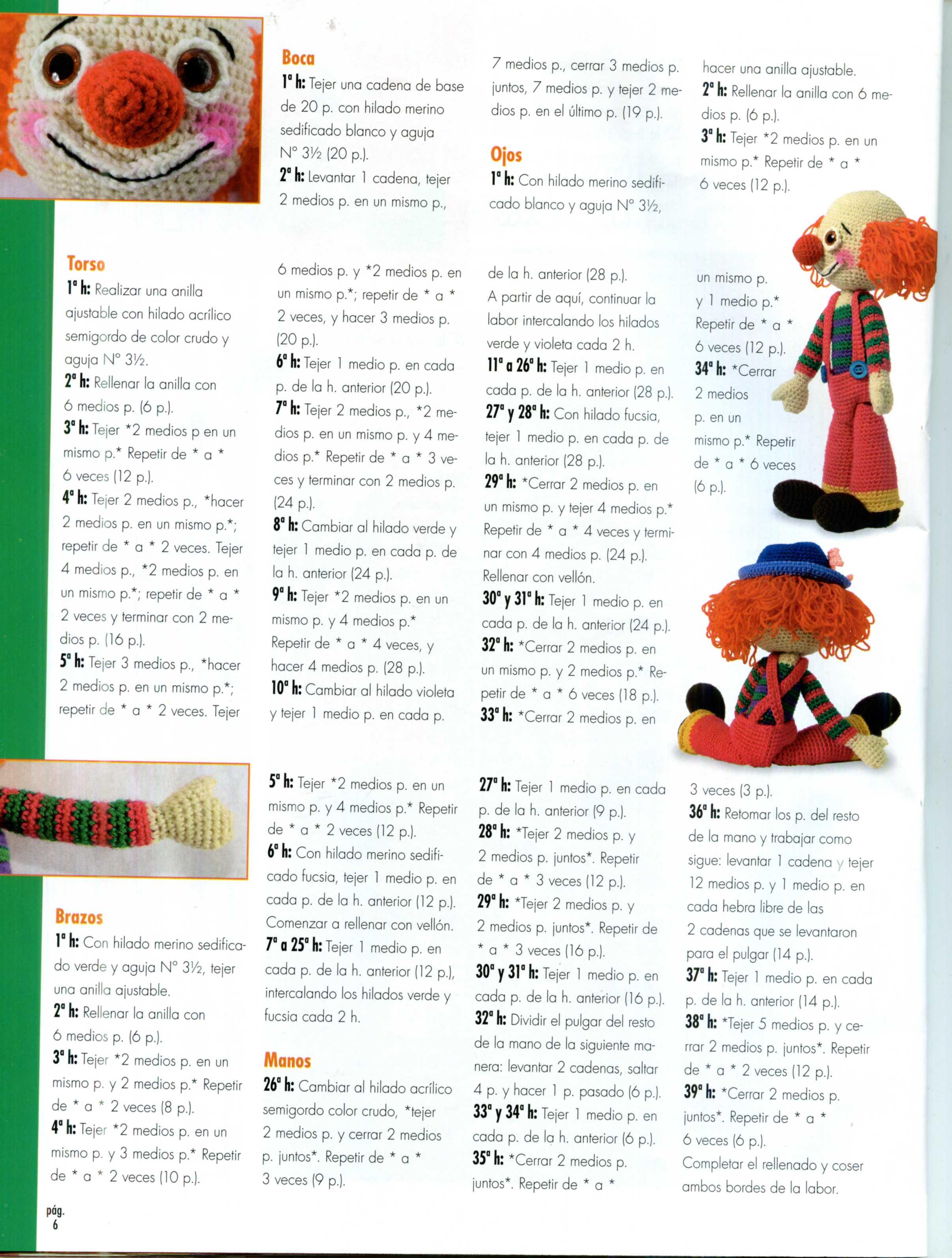 Clown Amigurumi – crochet pattern – Carmen Crochet | 3189x2413