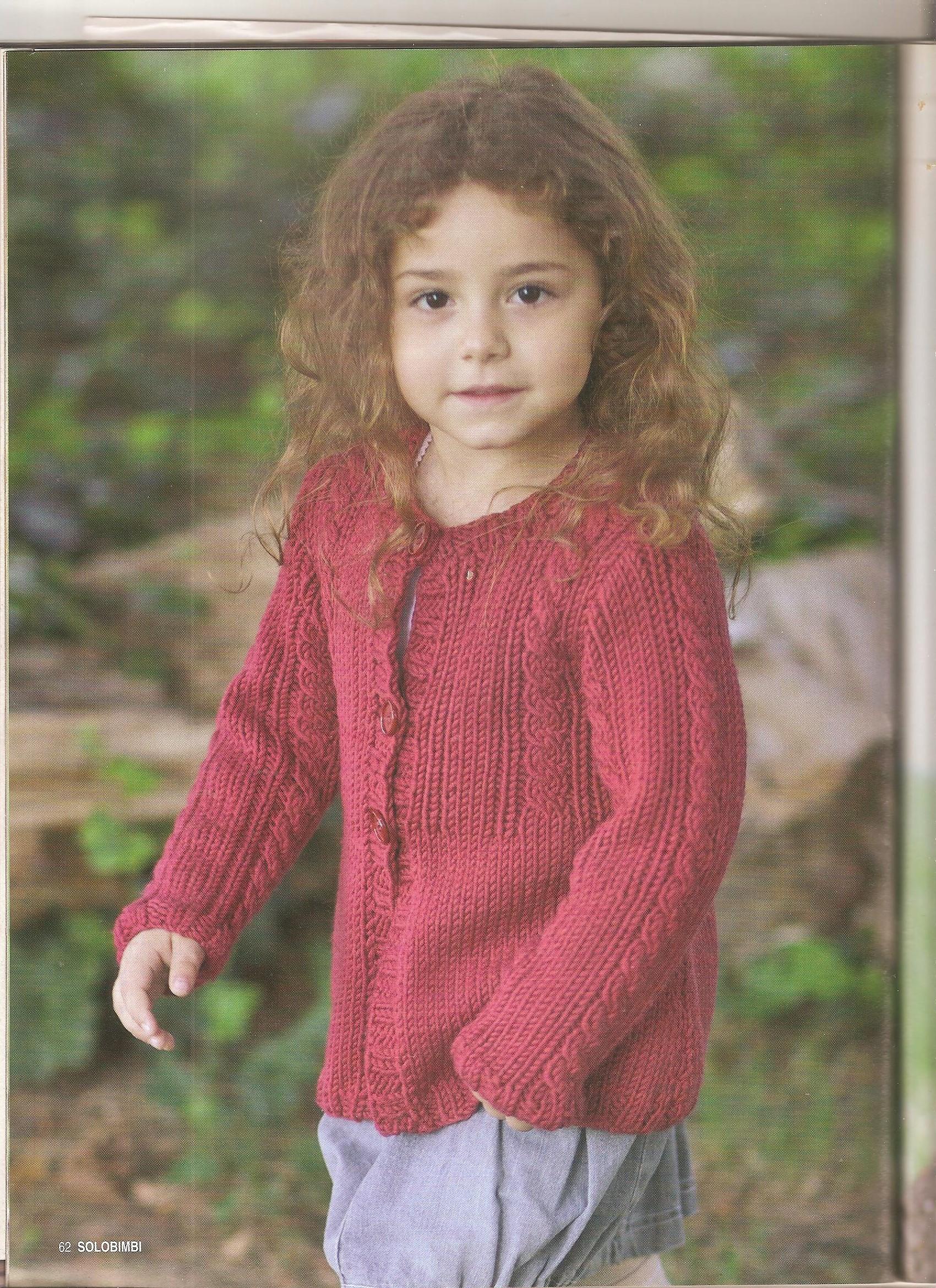 Giacca bambina a maglia 4 5 anni 1 punto - Punto a punto per i bambini di 3 anni ...
