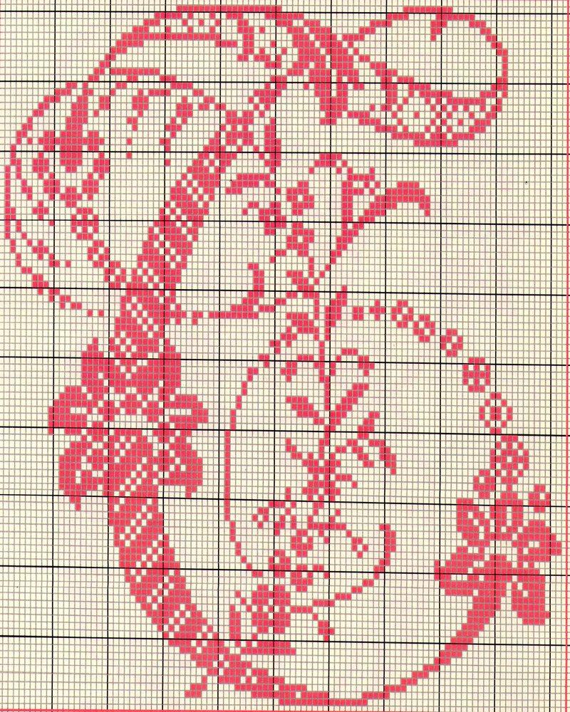 Alfabeto antico punto croce 19 punto for Schemi punto a croce alfabeto