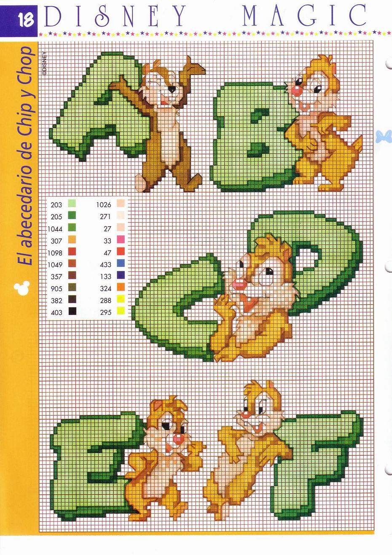 Alfabeto cip e ciop punto croce verde 1 for Alfabeto a punto croce per neonati