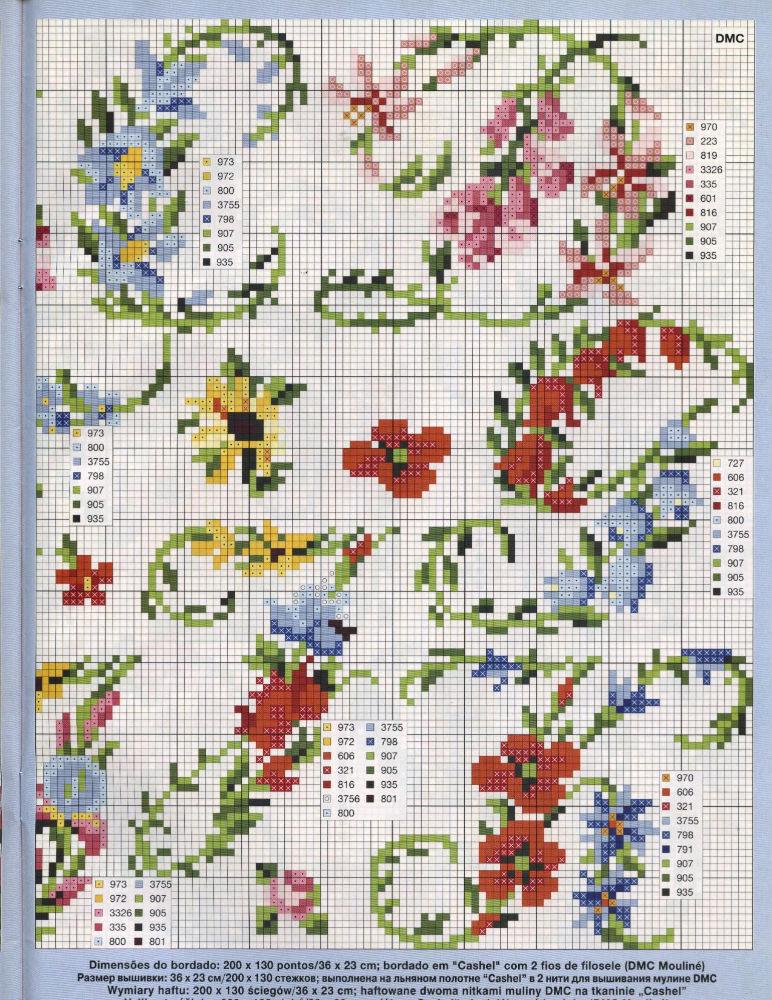 Alfabeto floreale punto croce 2 punto for Schemi gratis a punto croce