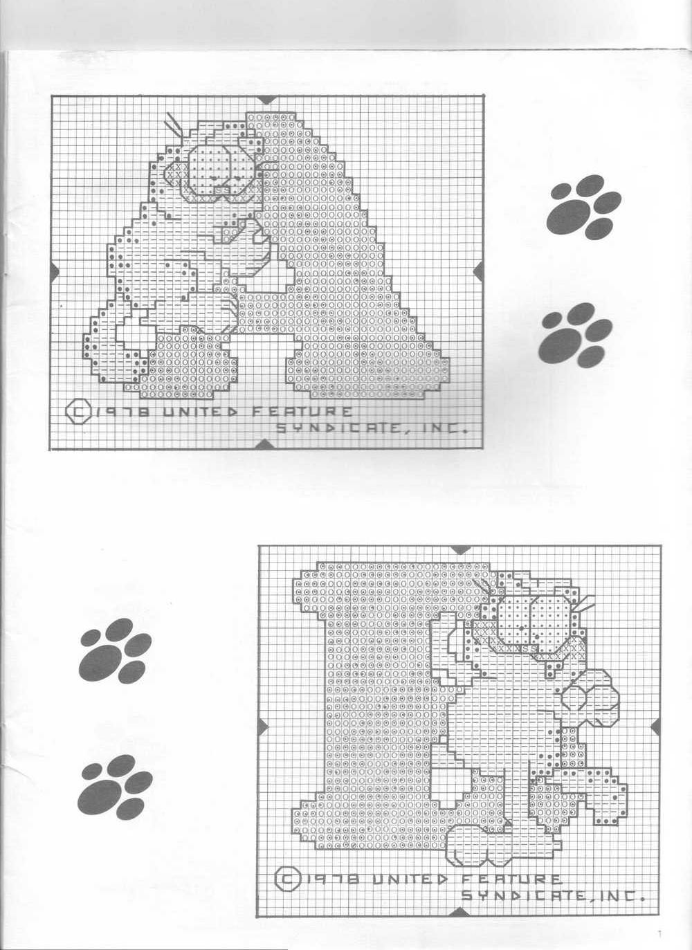 Alfabeto punto croce col gatto garfield 3 magiedifilo for Alfabeto a punto croce schemi