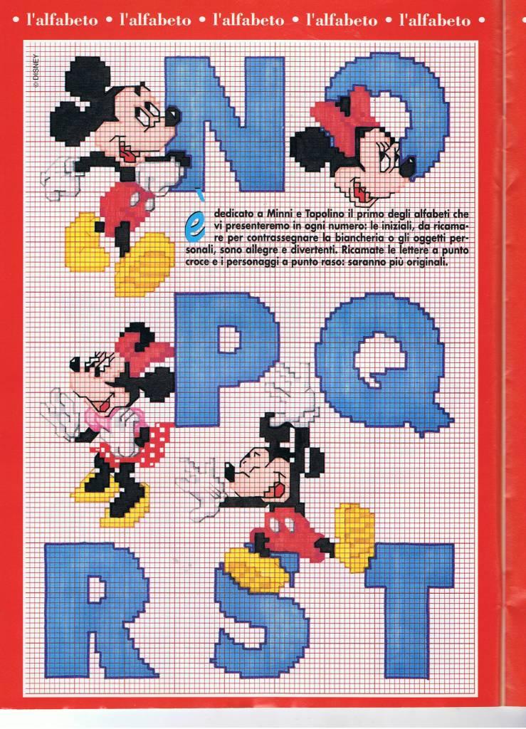 Alfabeto punto croce con disney topolino e minnie 3 for Alfabeto punto croce disney gratis