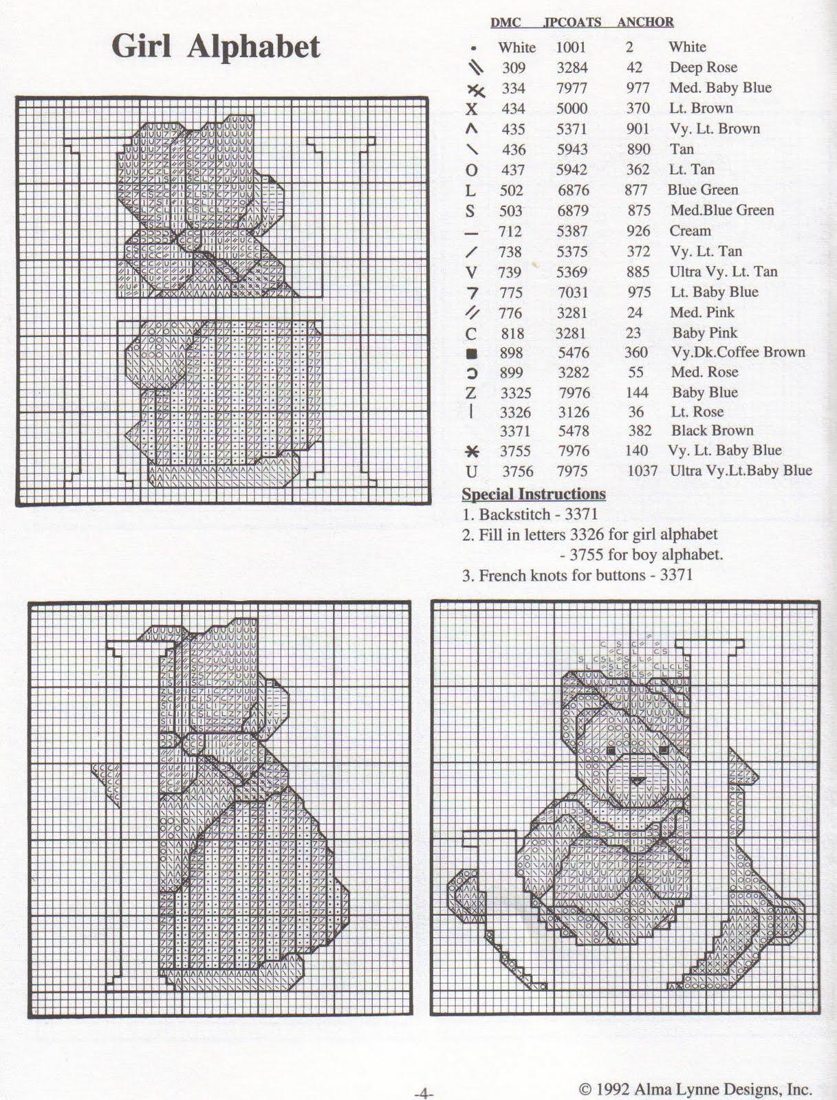 Alfabeto punto croce con gli orsetti teneri 6 for Orsetti a punto croce schemi