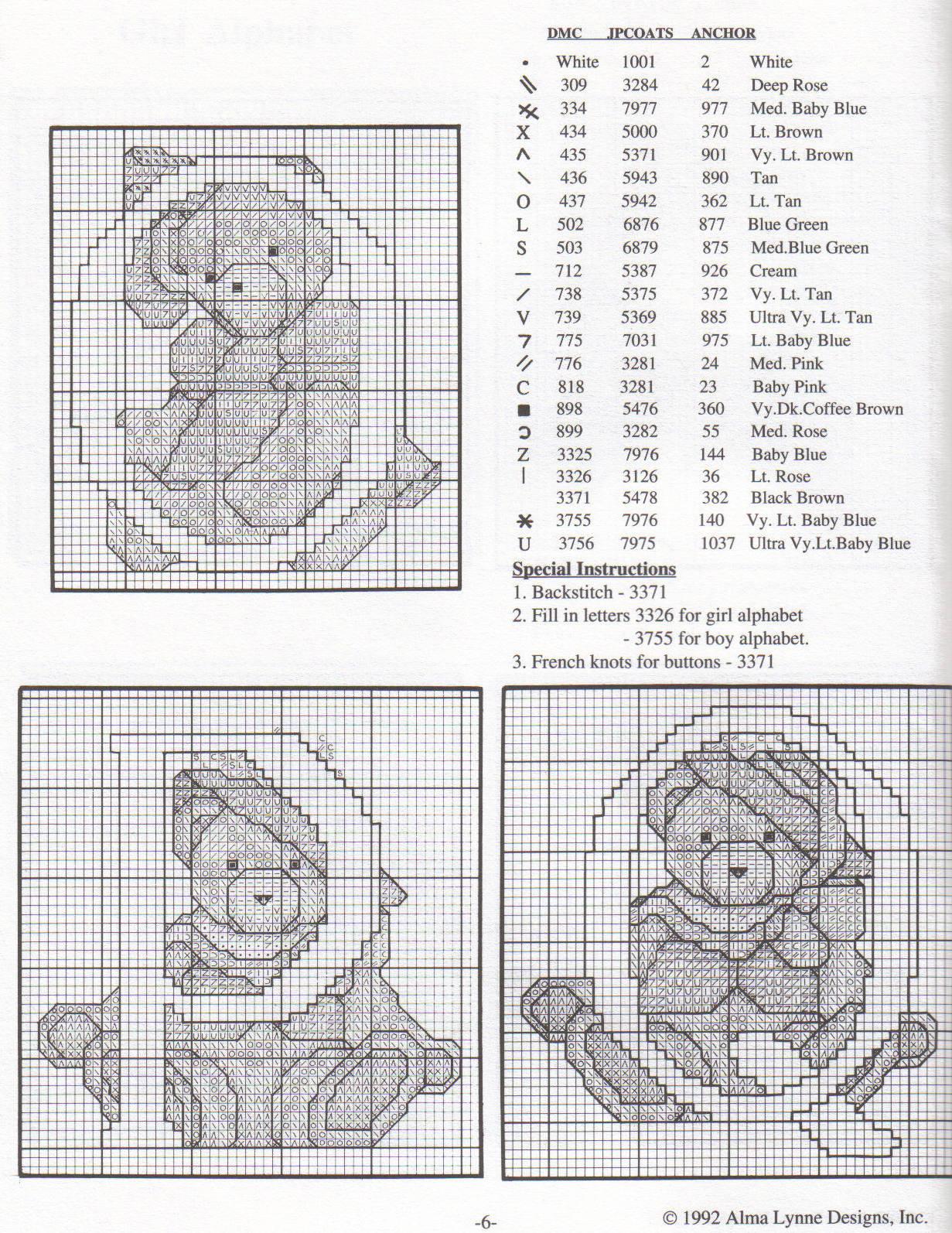 Alfabeto punto croce con gli orsetti teneri 8 for Orsetti a punto croce schemi