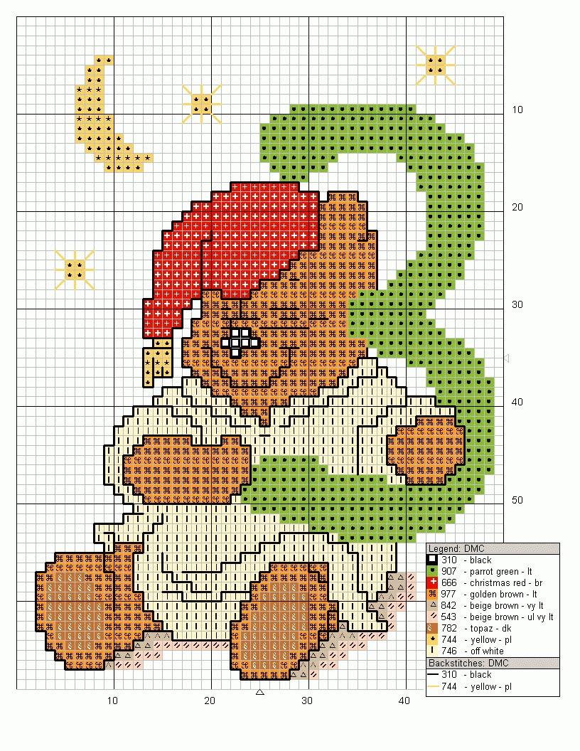 Schemi punto croce disney da stampare gratis mod le for Winnie the pooh punto croce schemi