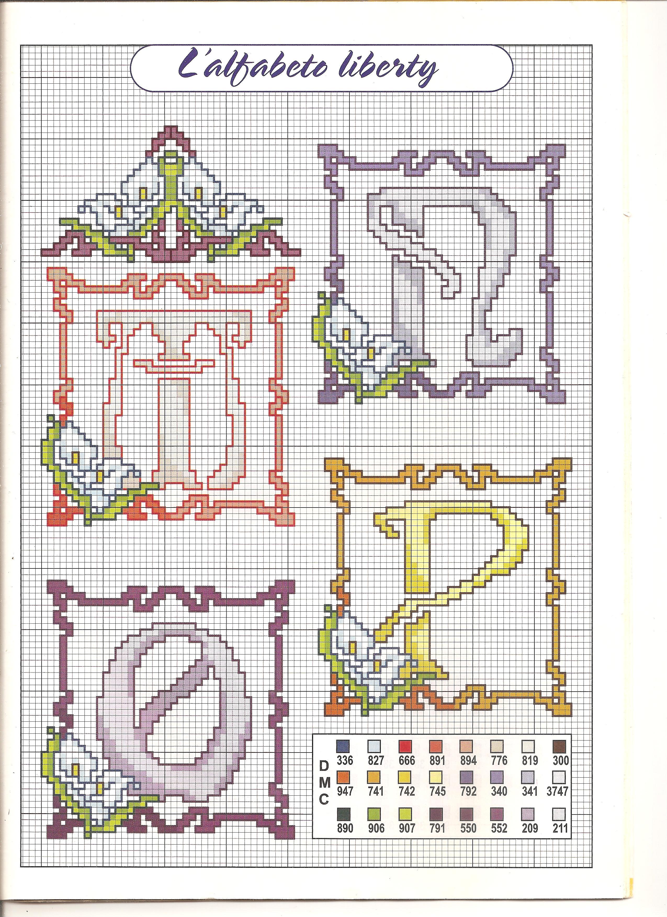 Alfabeto calle 4 punto croce uncinetto for Schemi punto a croce alfabeto