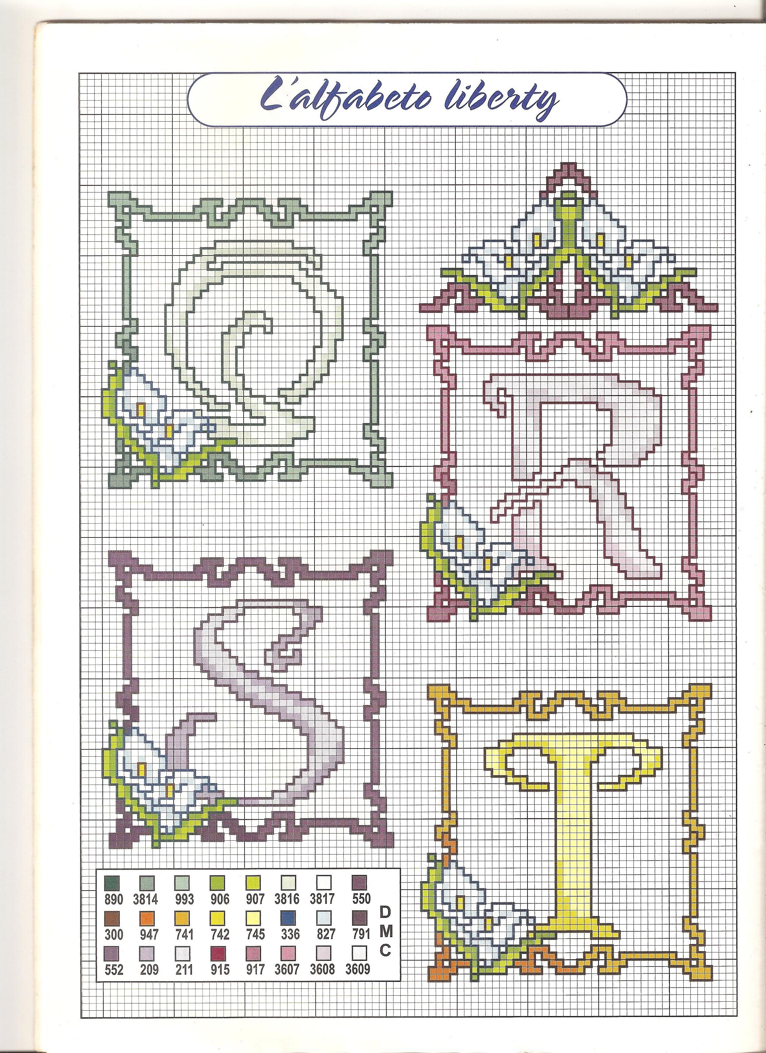 Alfabeto calle 5 punto croce uncinetto for Punto croce schemi alfabeto