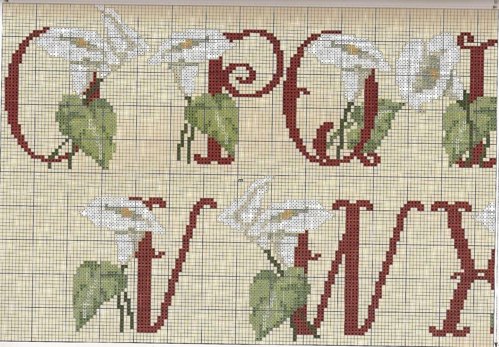 Alfabeto calle2 punto croce uncinetto for Alfabeto a punto croce schemi