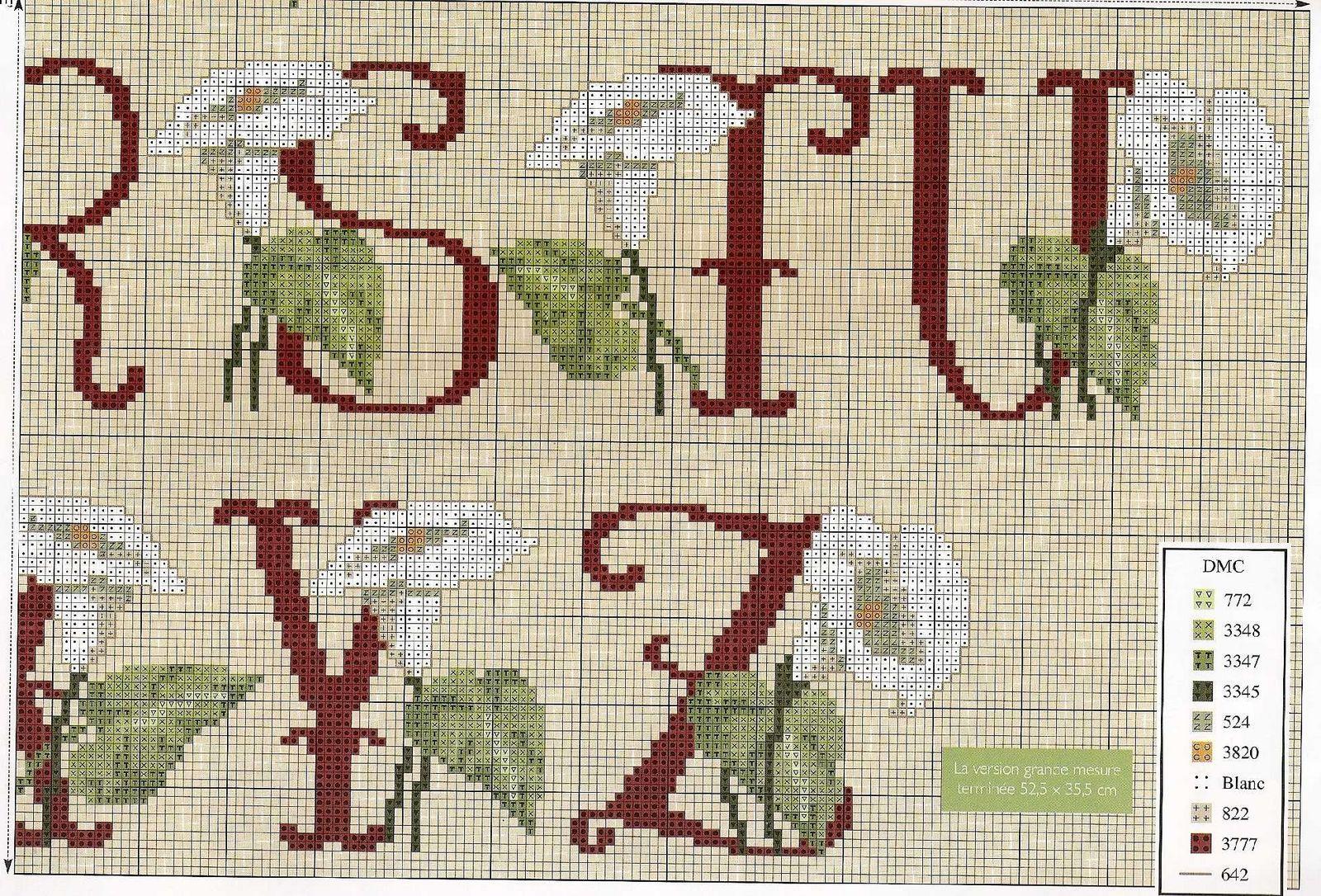 Alfabeto calle3 punto croce uncinetto for Schemi punto a croce alfabeto