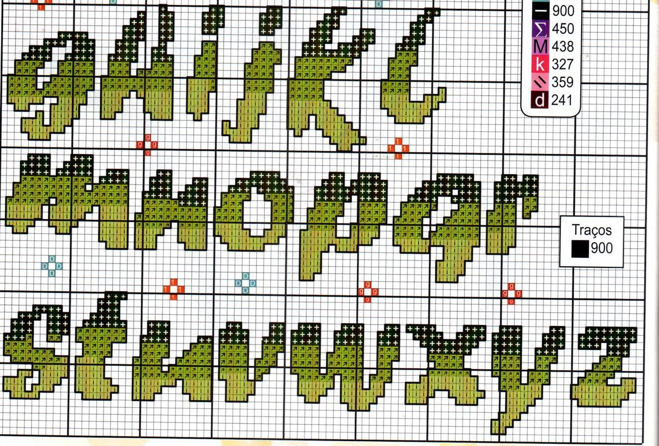 Alfabeto fiori farfalle11 punto croce for Alfabeto a punto croce schemi
