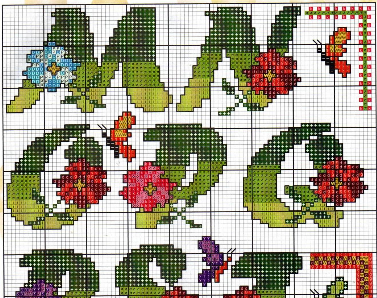 Alfabeto fiori farfalle15 punto croce for Schemi punto croce farfalle