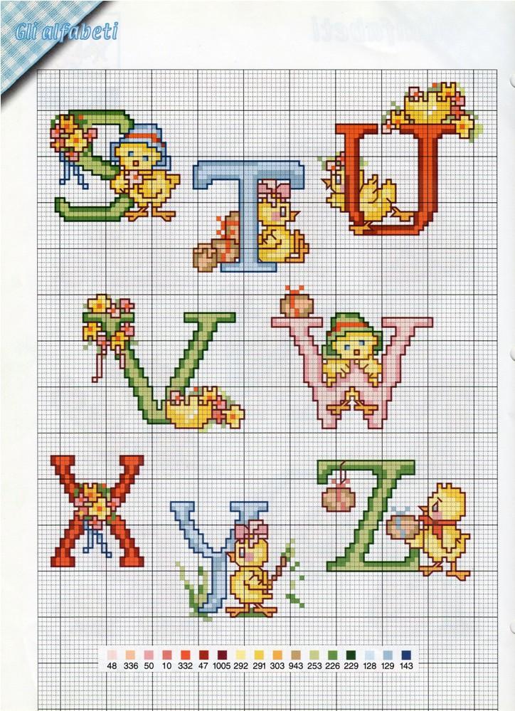 Alfabeto pasqua1 punto croce uncinetto for Alfabeto a punto croce schemi