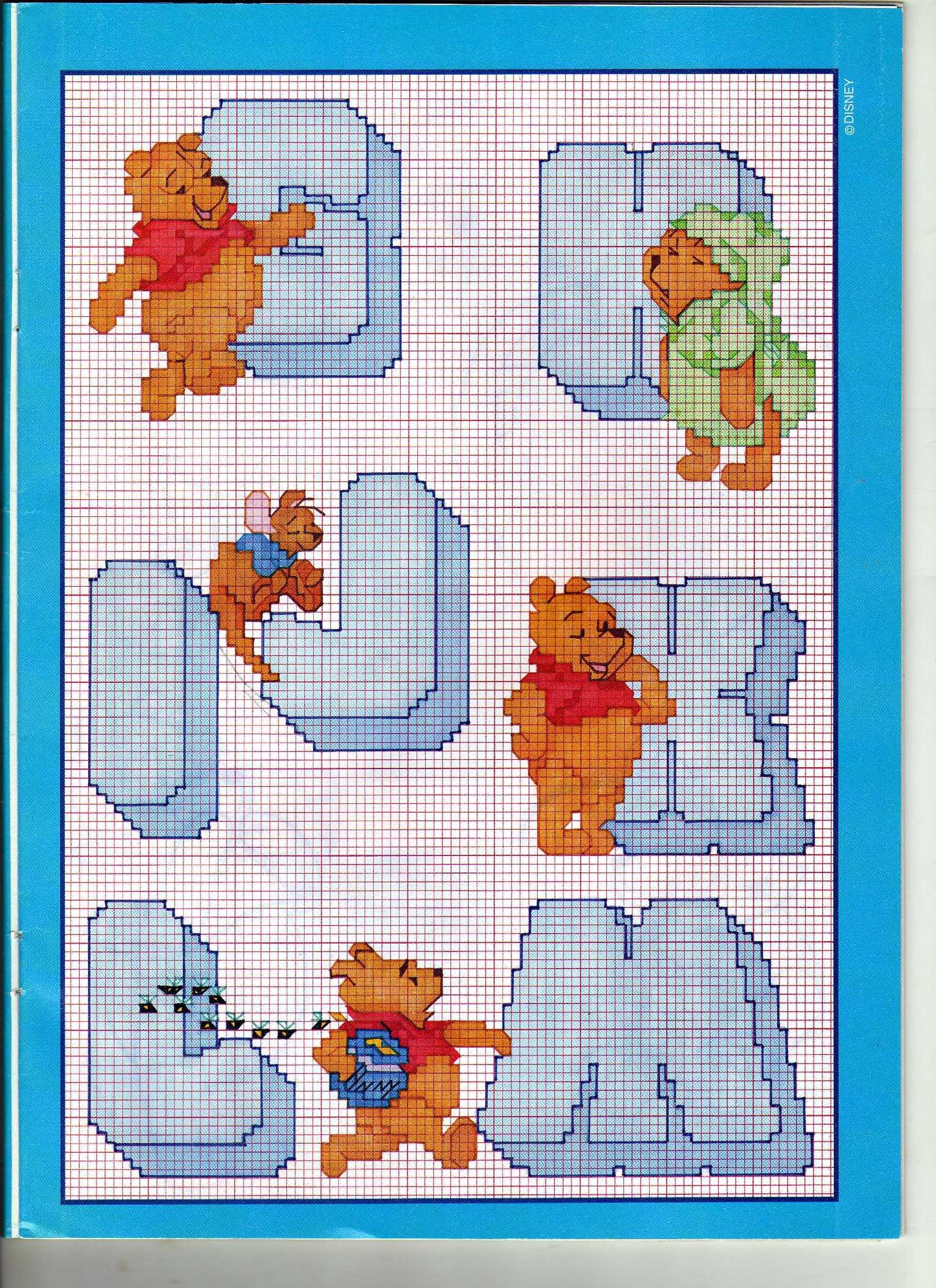 Alfabeto winnie the pooh 2 punto croce for Alfabeto disney a punto croce