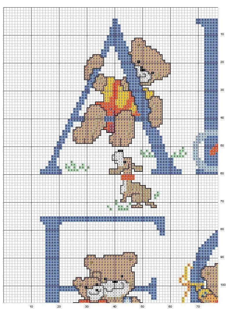 Alfabeto orsi 1 punto croce uncinetto for Alfabeto a punto croce schemi